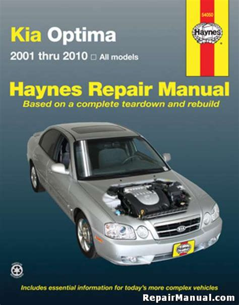 Kia Haynes Manual Kia Optima 2001 2010 Haynes Car Repair Manual