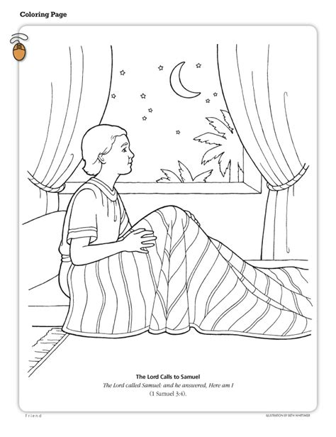 And Samuel Coloring Page free coloring pages of samuel anointing david