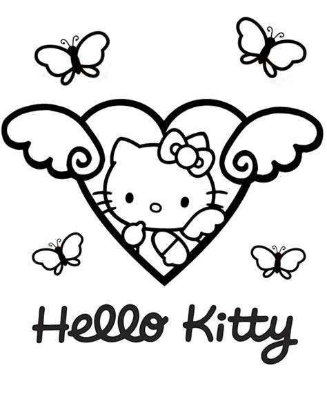 hello kitty butterfly coloring pages hello kitty and butterflies topcoloringpages net free