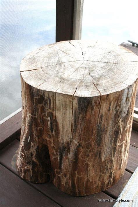 Log Stump Table » Home Design 2017