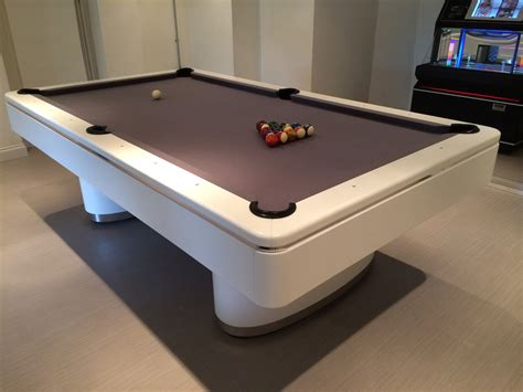 olhausen in white chrome american pool table
