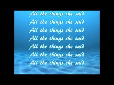 tattoo lyrics all the things she said all the things she said lyrics youtube