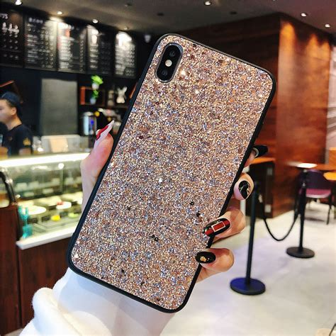 super bling phone case  iphone  xs max xr luxury diamond texture cases  iphone