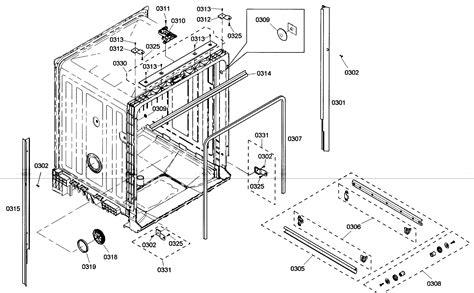 bosch dishwasher parts diagram cabinet assy diagram parts list for model she4am15uc01