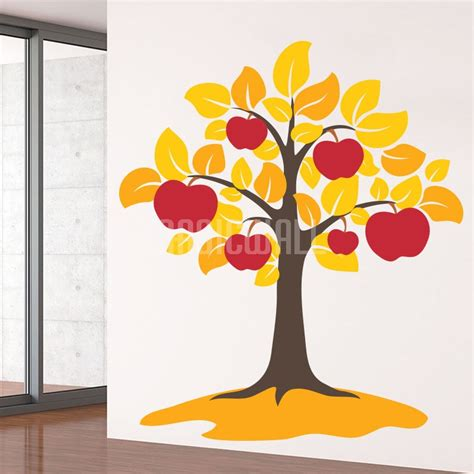 apple wall stickers wall stickers apple tree large leaves wall decals canada