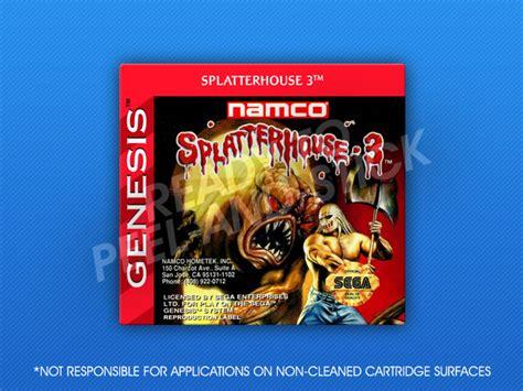genesis house 3 sega genesis splatterhouse 3 label retro cases