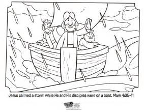 jesus calms the coloring page free coloring pages of jesus calming the sea