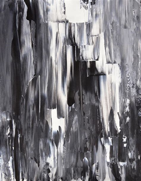 Black And White Abstract Paintings Melted Black And White Abstract Painting Painting By