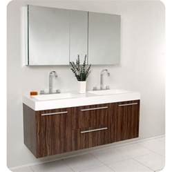 fresca opulento walnut modern sink bathroom vanity
