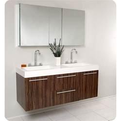 Modern Walnut Bathroom Vanity Fresca Opulento Walnut Modern Sink Bathroom Vanity W Medicine Cabinet Ebay