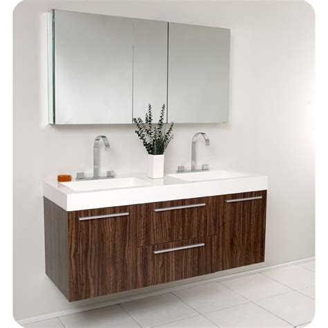 Bathroom Cabinets With Vanity Fresca Opulento Walnut Modern Sink Bathroom Vanity W Medicine Cabinet Ebay