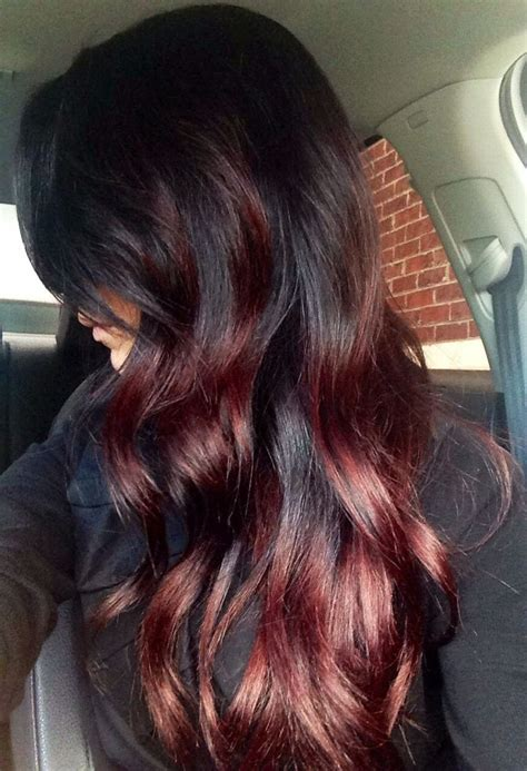 steps to doing burgundy hair with brown and caramel highlights long dark brown and burgundy hair skin hair nails