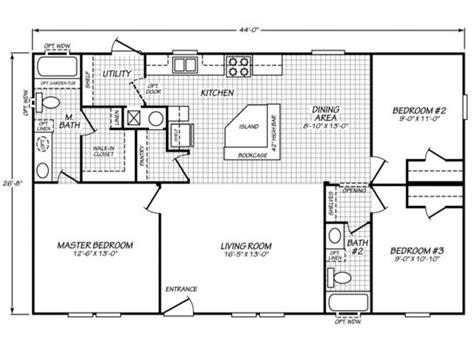 fleetwood mobile home plans sandalwood ltd 28443d fleetwood homes mobile home floor