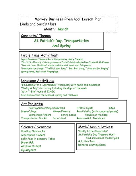 bright from the start lesson plan template 17 best images about curriculum ideas on the