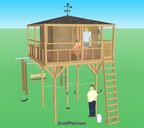 Bed Frame Stilts Pdf Diy Plans Playhouse On Stilts Plans For A Bed Frame Furnitureplans
