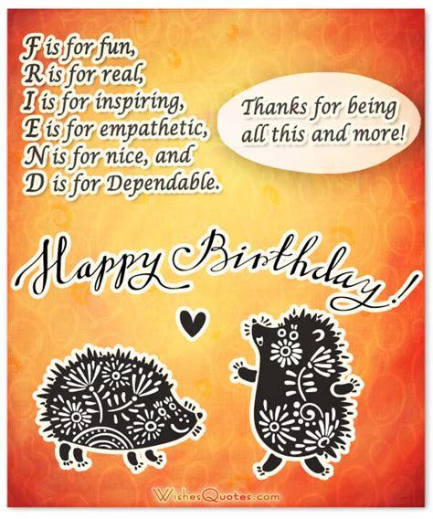 Friend Wishes Birthday Card