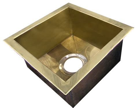 Brass Kitchen Sinks Polished Brass Bar Sink Traditional Bar Sinks Other By Lightsmith