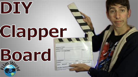 Clap Board Diy premier prep how to make a diy clapper board world premier prep episode 3