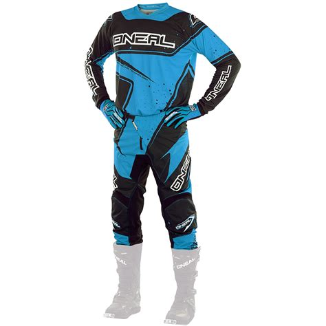 blue motocross gear oneal 2017 new mx youth element jersey pants black blue