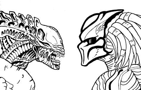 vs predator drawings black and white vs predator drawings pictures to pin