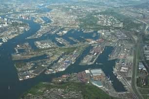 port de rotterdam vu de la tour euromast