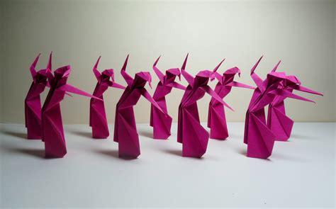 Origami Ballet Dancer - origami ballett pink 214 vs
