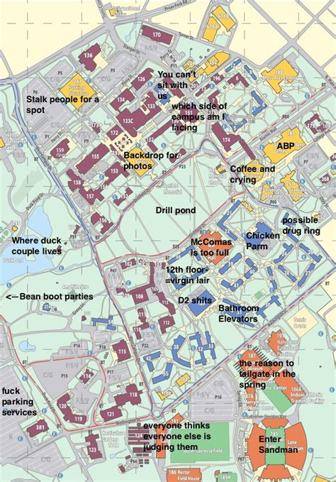 virginia tech map a judgmental map of virginia tech