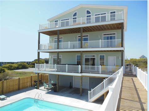 Casa Verde 11 Br Luxury Topsail Island Vrbo Topsail House Rentals