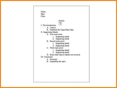 How To Make A Term Paper Outline - 5 apa research paper outline letter format for