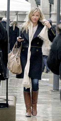 Name That Purse Cameron Diaz by Jacket Burberry Purse Jimmy Choo Similar Style Boots