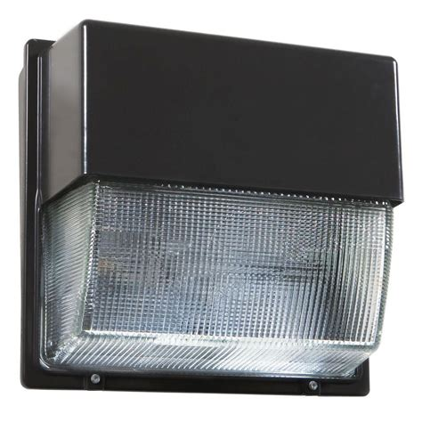 Lithonia Outdoor Lighting Lithonia Lighting Bronze Outdoor Integrated Led 5000k Wall Pack Light Twh Led 10c 50k The Home