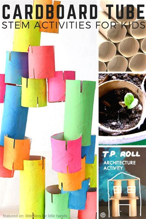 stem classroom projects cardboard tube stem activities and stem challenges for