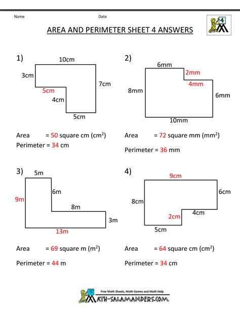 area and perimeter worksheets perimeter worksheets