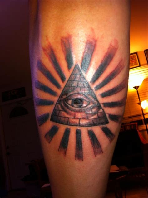 third eye tattoo third eye pyramid rays celestial black and grey custom