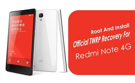 tutorial root xiaomi redmi note 4g root and install official twrp recovery for xiaomi redmi
