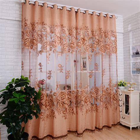embroidered window curtains aliexpress com buy top finel new tulle in translucidus