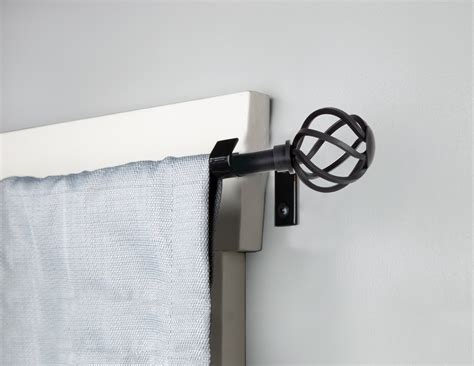 "Kenney Mfg 5/8"" Cage Black Curtain Rod   Curtain & Bath Outlet"