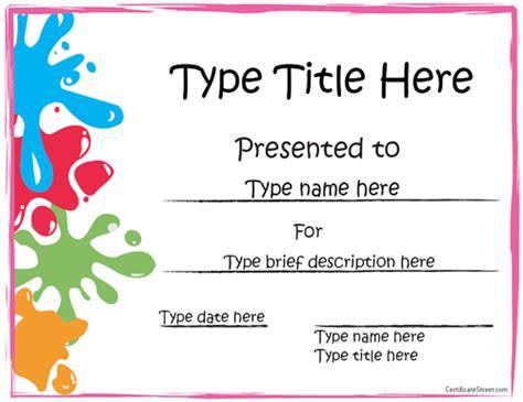 editable award certificate template susie homeschooler