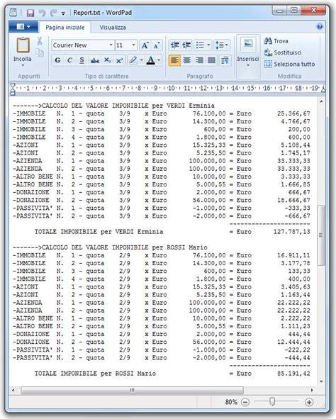tassa di successione casa programma calcolo imposte successione semplice e comfort