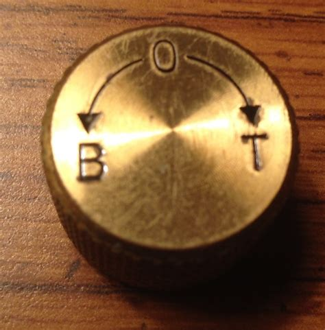 Brass Guitar Knobs by Vintage Westone Brass Guitar Knob Reverb