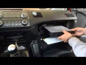 how to replace cabin air filter in a honda civic 8th