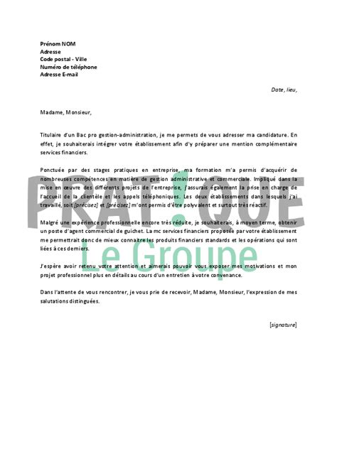 Lettre De Motivation Mc Barman Lettre De Motivation Pour Une Mc Services Financiers Pratique Fr