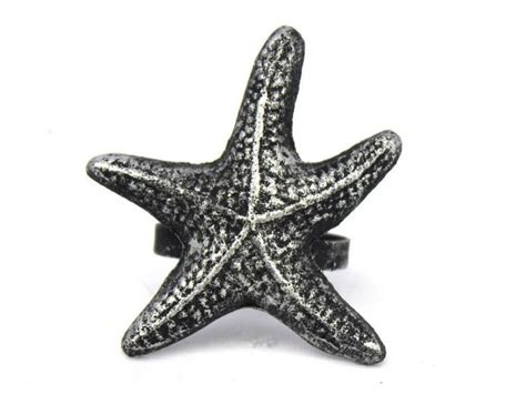 buy antique silver cast iron starfish napkin ring 3 inch