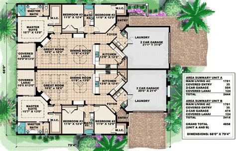 multifamily home plans one story home plans single family house plans 1 floor