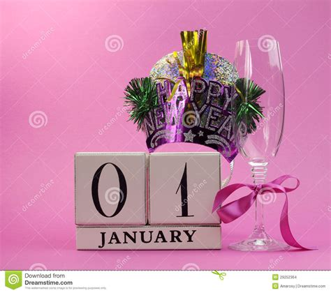 new year january 1 pink theme save the date with a happy new year january 1
