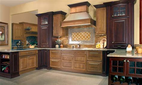 two toned stained kitchen cabinets huntwood usa kitchens and baths manufacturer