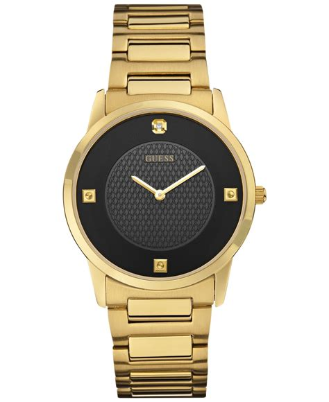 guess s accent gold tone steel bracelet