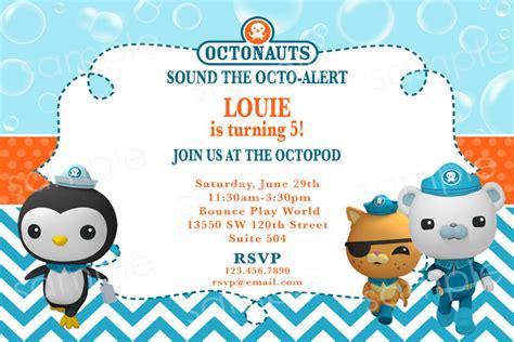 octonauts printable banner octonauts birthday invitation diy digital by modpoddesigns
