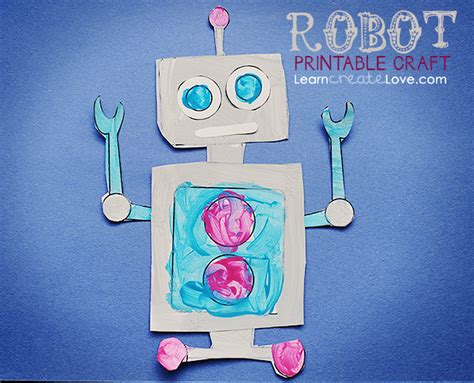 free printable crafts printable robot craft
