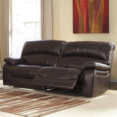 ashley furniture brown leather couch ashley furniture damacio leather reclining sofa in dark